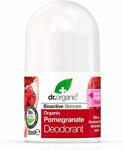 Dr. Organic bioactive organic natural deodorant roll on + Pomegranate