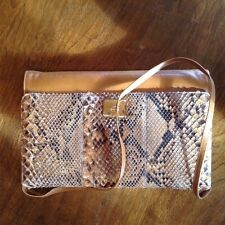 VINTAGE CORET SNAKESKIN AND LEATHER HAND BAG (MONTREAL)
