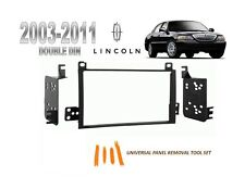 2003-2011 LINCOLN TOWN CAR 2 DIN CAR STEREO INSTALL DASH KIT,  w/ TOOL SET