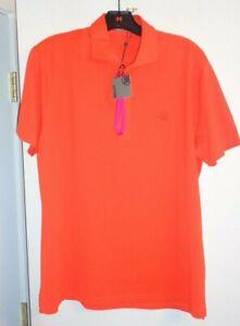 G/Fore Golf/Casual Polo skull & tees logo MEDIUM blazing orange NWT