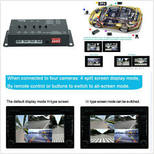 360 REGISTRATORE anteriore/posteriore/destra/sinistra fotocamere DVR & Video Monitor BOX panoramico