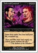 INFERNAL CONTRACT Seventh Edition MTG Black Sorcery RARE