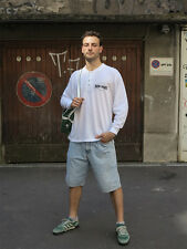 NEW YORK Shirt Sweater 90s True Vintage Herren Hemd 90er weiß Trikot Größe L