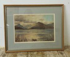 More details for framed 1986 loch fyne scotland pastel painting signed by the artist ella ward