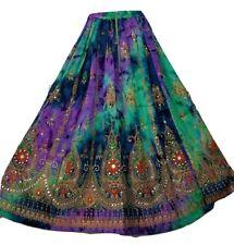 Tie Dye Skirt Boho Gypsy Hippy Long Sequin Party Dress 8 10 12 14 16 18 20 22 24