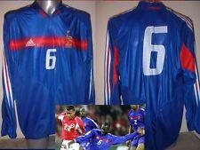 France adulte XL jersey shirt matchworn joueur de soccer trikot ADIDAS L / S FRANCAIS
