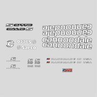 Cannondale CAAD5 Calcamonías para Bicicleta, Transfers, Adhesivos: Blanco N.8