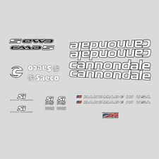 Cannondale CAAD5 Bicycle Decals, Transfers, Stickers: White n.8