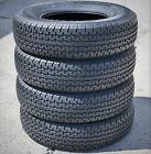 4 Transeagle II Steel Belted ST 225/75R15 Load E 10 Ply Heavy Duty Trailer Tires