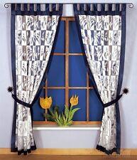 moderne Ensemble de Deux Panneaux Voilages motif floral prêt à suspendre