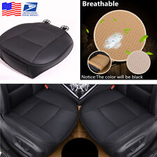 Universal Black PU Leather Deluxe Car Front Cover Seat Protector Cushion From US