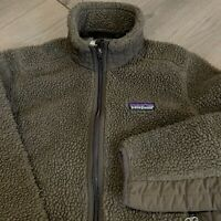 Patagonia Fleece Jacket Womens Small Synchilla Brown Overpile Sherpa Zip UP Hike