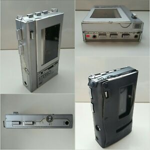 CAP10 PS 115 Vintage Personal Stereo Cassette Player Walkman - Silver. Working