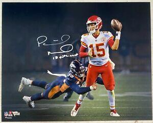 "KC Chiefs Patrick Mahomes Signed 16x20 ""'18 NFL MVP"" Photo Fanatics Hologram"