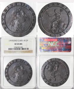 1797 2p SOHO Great Britain Two Pence NGC XF 45