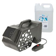 QTX QTFX-B3 Mega Bubble Machine DJ Disco Party Lightweight & Remote, 5L Fluid