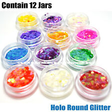 1 KLEANCOLOR 3D NAIL ART DECORATIONS PROFESSIONAL HOLO ROUND GLITTER NA312C