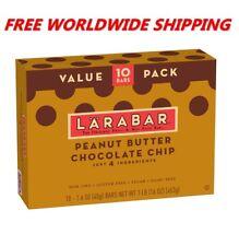 Larabar Peanut Butter Chocolate Chip Bars Value Pack 10 CT 16 Oz FREE WORLD SHIP