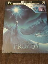 Frozen Steelbook 4K Ultra HD Blu-Ray Disc + Digital Code Disney Movie Sealed