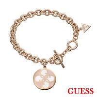 GUESS Damen Armband Armkette Schmuck Edelstahl Rosegold UBB10417