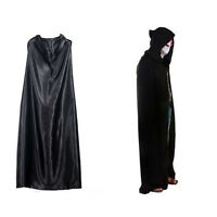 Black Death Devil Halloween Tippet Hoody Cloak Costume Cosplay Theater Prop Cape