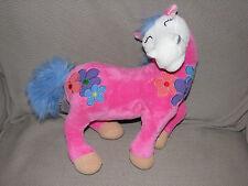 AMY LACOMBE STUFFED PLUSH WHIMSICLAY HORSE PONY PINK 70S FLOWERS PURPLE BLUE