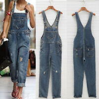 Cool Women Denim Jeans Jumpsuit Sleeveless Playsuit Overalls Trousers Rompers