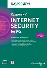 Kaspersky Internet Security 2018 with Anti-Virus, 3 PC (Exp. Date: 08/09/2019)