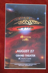 Boston autographed concert poster 2015 Tom Scholz, Gary Pihl, Curly Smith