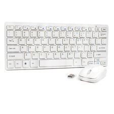 New USB Cordless Wireless Mouse Mice and Keyboard Combo for PC Laptop MAC White