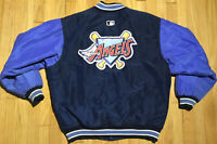Vintage 90s Anaheim Angels Starter satin jacket L blue Diamond MLB baseball