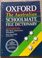 The Australian Schoolmate File Dictionary by Oxford University Press...
