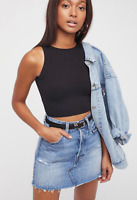 NEW Free People Intimately High Neck Seamless Top in Black XS/S-M/L 26.20