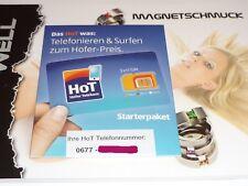 HOT Austria Pre-Paid SIM Karte von ALDI-Österreich (Netz T-Mobile AT) NEU OVP