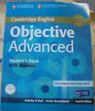 OBJECTIVE ADVANCED STUDENT'S BOOK with ANSWERS e Cd - 4th ED - O'DELL -CAMBRIDGE