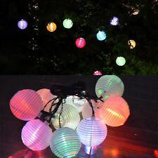 Garden Path Solar Power Lantern String Lights LED Lantern Fairy Lights String