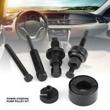 6Pcs/Set Power Steering Pump Pulley Kit Vehicle Puller Remover Installation Tool