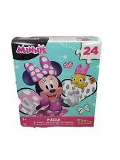 Disney Junior Minnie Colorful 24 Piece Jugsaw Puzzle New