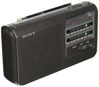 Sony ICF38 Portable AM/FM Radio (Black) NEW