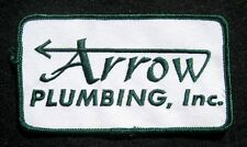 """ARROW PLUMBING EMBROIDERED SEW ON PATCH ADVERTISING HAT UNIFORM 4 1/2"""" x 2 1/2"""""""
