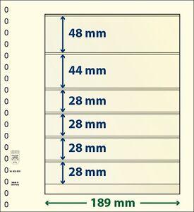 Lindner T-Blanko-Blätter mit 6 Taschen im 10er Pack  Art.-Nr. 802 605