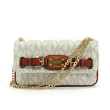 MICHAEL KORS HAMILTON VANILLA SMALL CHAIN FLAP SHOULDER BAG