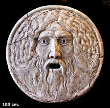 """Roman Italian Sculpture The Mouth of Truth. """"La Bocca della Verità"""". (103 cm.)"""