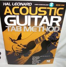 hal leonard acoustic guitar tab method audio access book one