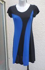 Robe Manches Courtes Doublée Noir Et Bleu Taille 1