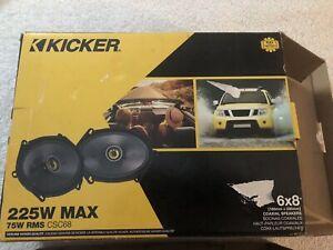 "Kicker 46CSC684 Car Audio 6x8"" Coaxial Full Range Stereo Speakers CSC68"