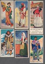 1920's Cowan V18 People of The World Trading Cards Lot of 15