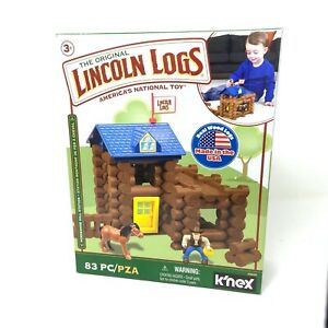 Lincoln Logs Horseshoe Hill Station – 83 Pieces – Ages 3+ Preschool NEW
