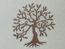 "Custom Made Olive Tree Espresso Brown Wall Art Decor Wood 16"" Tree of Life"