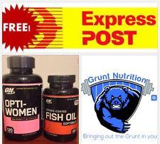 Optimum Opti-Women 120 Capsules Optimum Fish Oil 100 Softgels FREE EXPRESS POST